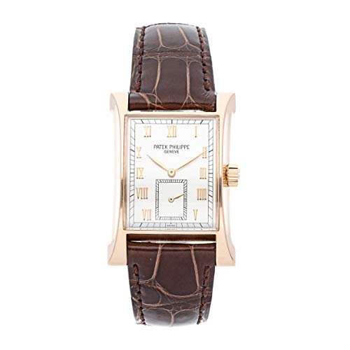 - Patek Philippe Pagoda Mechanical (Hand-Winding) Silver Dial Mens Watch 5500R (Certified Pre-Owned)
