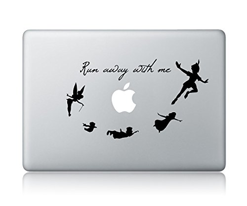 Peter Pan Run Away With Me Apple Macbook Laptop Vinyl Sticker Decal