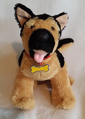 Build-A-Bear German Shepherd Black & Brown Plush Stuffed Animal Toy 19 Inches Long & 11 Inches Tall.
