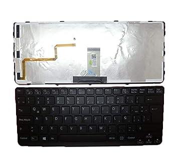 RTDpart - Teclado para portátil Sony VAIO SVE141 V134146AK3LA 149175111LA AEHK6L031103A V134146AK1LA 149020051LA América Latina LA Negro con Marco ...