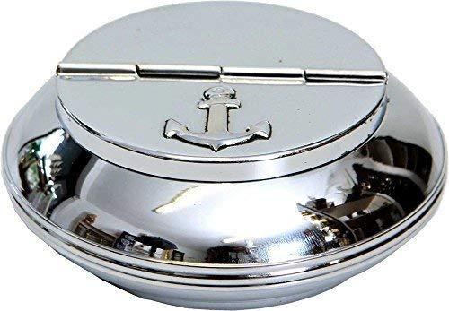 Argent 10 CM Marine Cendrier Linoows de Grandes Nautique Pliable Cendrier