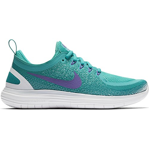 Nike Women's Free RN Distance 2 Light Aqua/Hyper Grape Running Shoe 8 Women US