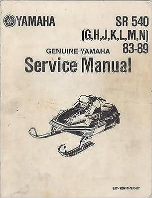 1983-1989 YAMAHA SNOWMOBILE SR 540 (G, H, J, K, L, M, N