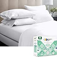 California Design Den 600 Thread Count 100% Cotton, Sheets for Queen Size Bed, Soft & Crisp Hotel Quality,