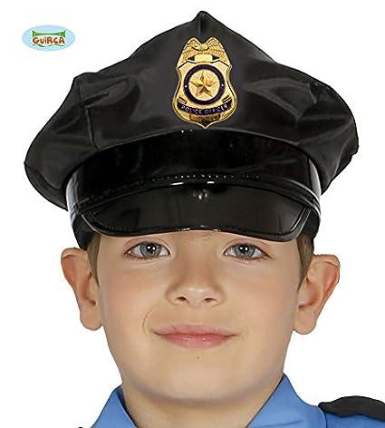 Guirca Gorra Policía con Placa Dorada: Amazon.es: Juguetes y juegos