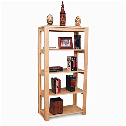 Gothic Cabinet Craft Unfinished Real Wood Open Bookcase With Four Shelves