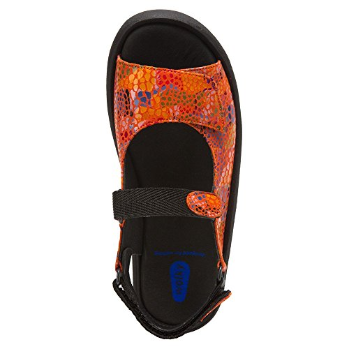 3204 Leather Jewel Wolky Womens Orange Multi Fantasy Sandals Color 5xwPTtqP