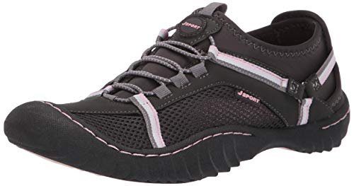 JSport by Jambu Women's Tahoe Max Sneaker Charcoal/Pink 11 M US