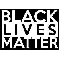 Black Lives Matter White Decal Vinyl Sticker|Cars Trucks Vans Walls Laptop| White |5.5 x 3.5 in|LLI493