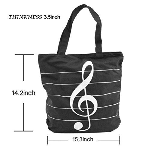 Cadeaux Main Épaule Toile Impression Sacs À Winomo Sac Symboles Tote Musique Mode wPUa4B
