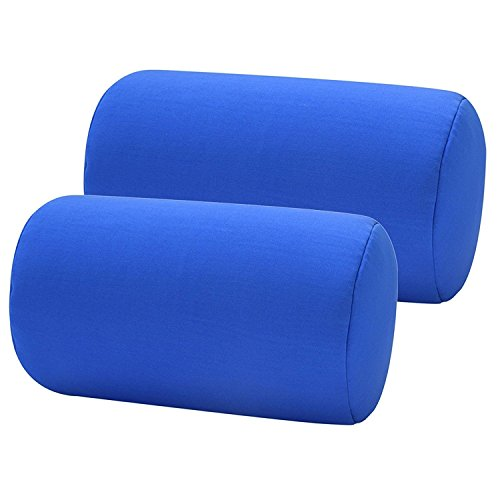 (Bookishbunny 2pcs Micro Bead Roll Pillow Cushion for Bed Back Neck Head Body Support, 12