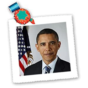 Amazon.com: 3dRose qs_107188_2 Barack Obama with American Flag in