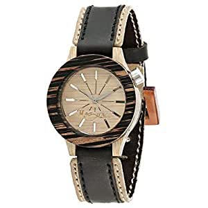 Maguaco Claro Unisex Beige Dial Leather Band Watch