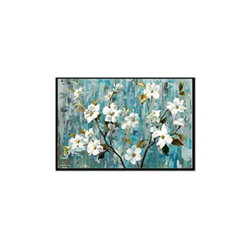 Stay-here White Flower Pictures Wall Art Paintings On Canvas Posters and Prints POP for Living Dining Room Home Decoration,10x15 cm no Frame,D
