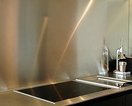 Credenza da cucina in acciaio inox spazzolato 1,5 mm su misura H 40 ...
