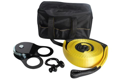DiversityWrap Full Recovery Winch Snatch Block Kit: Tow Straps, Shackles & Snatch Block Eagle Rise Ltd