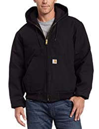 Carhartt Men's Quilted Flannel Lined Duck Active Jacket J140