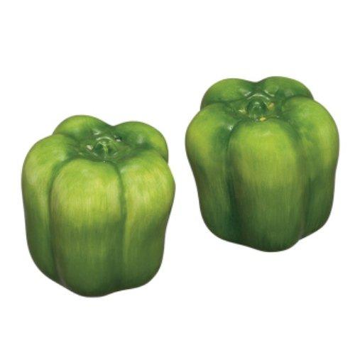 Green Sweet Pepper Summer Garden Vegetables Salt & Pepper Set