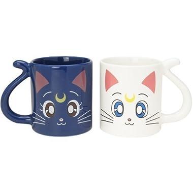 Cute Sailor Moon Luna Cat and Artemis Pair Mug Cup