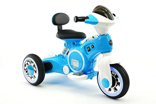 VIP 12V ELECTRIC KIDS RIDE ON TRICYCLE WITH LED WHEELS AND MP3 PLAYER TOY