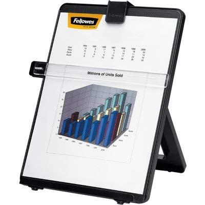 Fellowes : Non-Magnetic Legal-Size Desktop Copyholder, Plastic, Black -:- Sold as 2 Packs of - 1 - / - Total of 2 Each ()