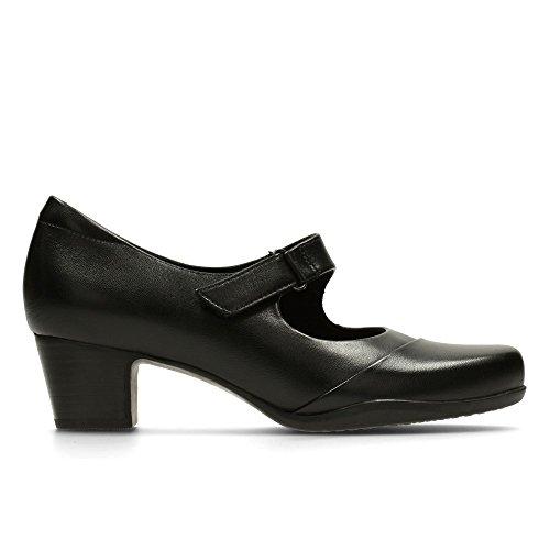 Clarks Rosalyn Wren Black Leather negro