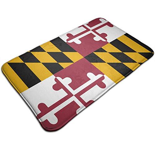 Maryland Floor - Shenghong Lin Flag of Maryland Non-Slip Doormat Welcome Mat Rug Front Door Bathroom Indoor Outdoors Floor Mat Gate Pad Entrance Outside Doors Carpet