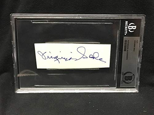 Actress Signed Original - Virginia Sale Actress Original Autographed Signed 1.5X4 Paper Bas Beckett Slabbed
