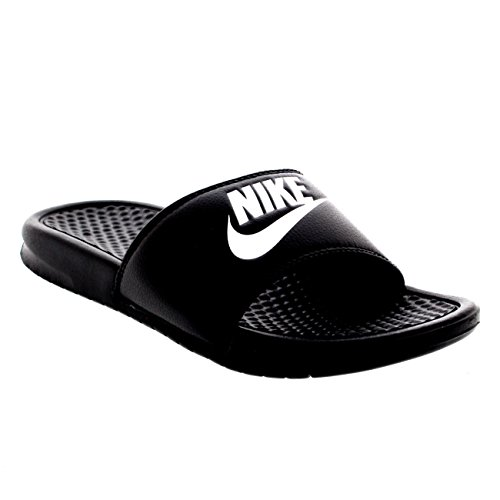 NIKE Mens Benassi JDI Lightweight Slides Beach Holiday Sandals Summer - Black/White - 10 by NIKE