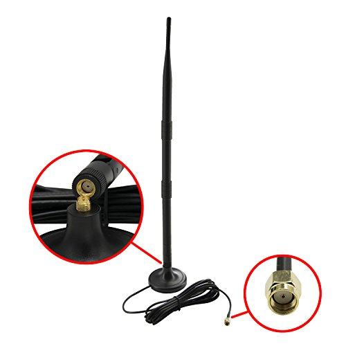 HIGHFINE-1x-9DBi-GSM-High-Gain-4G-LTE-Antenna-Wifi-Signal-Booster-Amplifier-Modem-Adapter-Network-Reception-Long-Range-Antenna-With-RP-SMA-MaleSMA-Male-Connector-Cable-for-Mobile-Hotspot