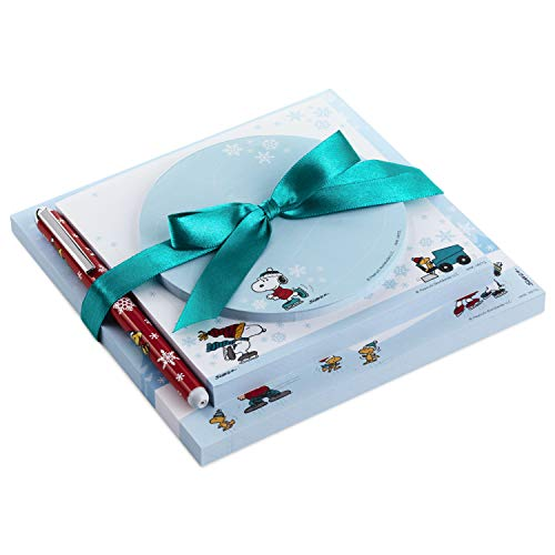 Hallmark Peanuts Notepad Bundle with Pen (3 Notepads, Assorted Sizes)