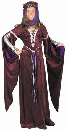 Kid's Medieval Queen Costume (Size: Small (Medieval Enchantress Costume)