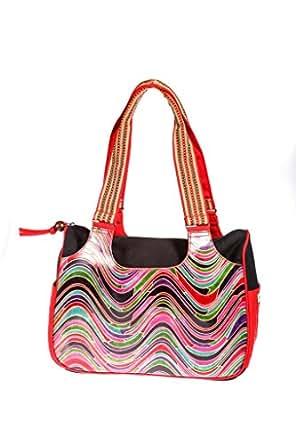 Bentati Tote Bag, Multi Color with wave pattern, Item 3011