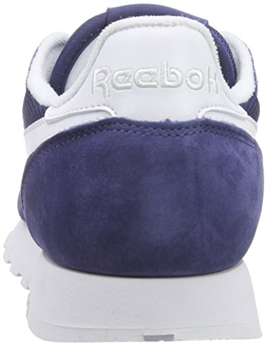 Reebok Cl Leather Is, Zapatillas de Running Para Hombre Azul / Blanco (Midnight Blue/White)