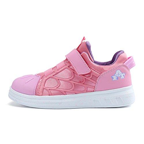 AFFINEST Kinderschuhe Laufschuhe Sportschuhe Fashion Seakers Breathable Leuchtschuhe Freizeitschuhe Jungen Mädchen mit Multicolor Pink