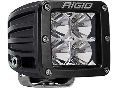 Rigid Industries 201113 D-Series Pro Flood Light; Surface Mount; Hybrid; 4 White LEDs; Black Square Housing; Single;
