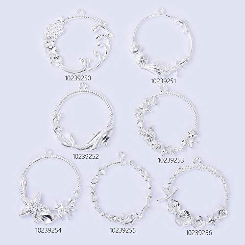 41x35x2mm Silver Plated Open Bezel Charm for Resin sea Pendant Frame Open Back Pendant Frame Setting,Sold 10pcs/lot,10239253