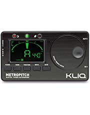 KLIQ MetroPitch - Metronome Tuner for All Instruments - with Guitar Bass Violin Ukulele and Chromatic Tuning Modes - Tone Generator - Carrying Pouch Included Black