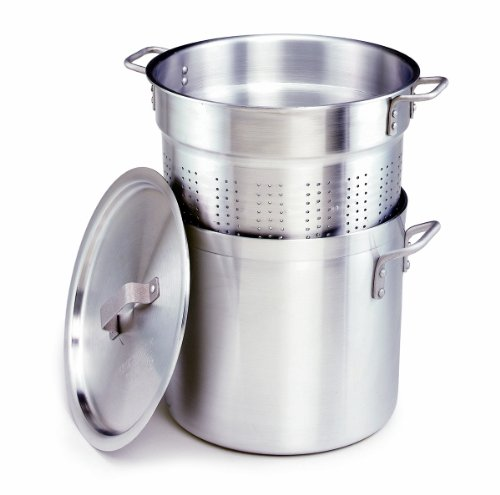 Crestware 20-Quart, 3-Piece Aluminum Pasta Cooker with Pot, Perforated Insert and Pan Cover by Crestware