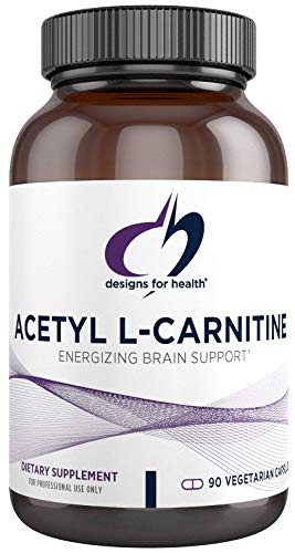 Designs for Health Acetyl L-Carnitine Capsules 800mg - Extra Strength Acetyl L-Carnitine HCl (90 Capsules)