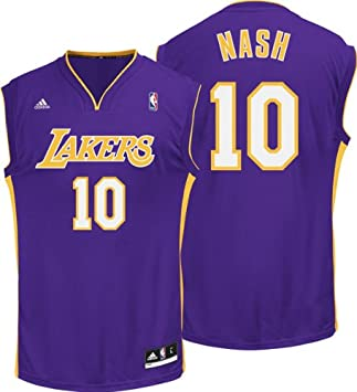 6657e7088 ... clearance steve nash los angeles lakers purple replica jersey xxxx  large 2e4c6 3f6ce ...