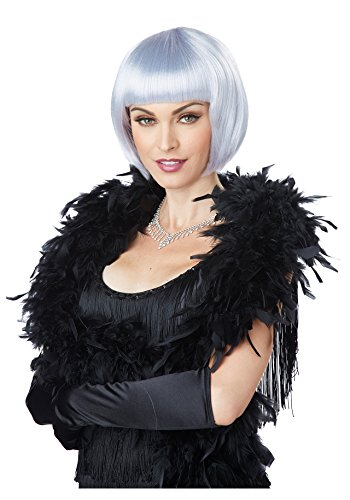 California Costumes Women's Flapper Wig, Lavender/Gray, One Size