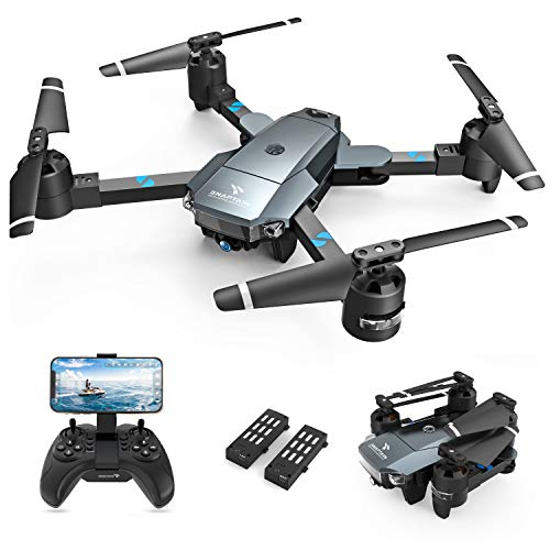SNAPTAIN A15 Foldable FPV WiFi 120° Wide-Angle 720P HD Camera, Voice Control/Trajectory Flight/Altitude Hold, Drone for…