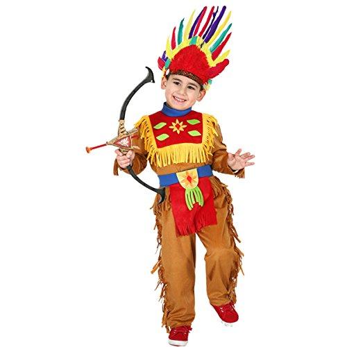 Pegasus VESTITO COSTUME Maschera di CARNEVALE baby - INDIANO - Taglia 3 4 anni - 78 cm