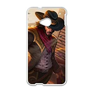 HTC One M7 Phone Case Cover White League of Legends High Noon Twisted Fate EUA15975701 Clear Phone Cases Custom