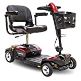 Pride Mobility - Go-Go LX with CTS Suspension - Travel Scooter - 4-Wheel - Red - PHILLIPS POWER PACKAGE TM - TO $500 VALUE