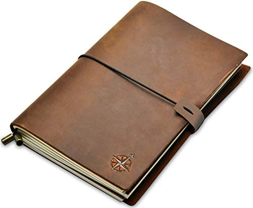A5 Notebook Refillable Hand Crafted Travelers product image