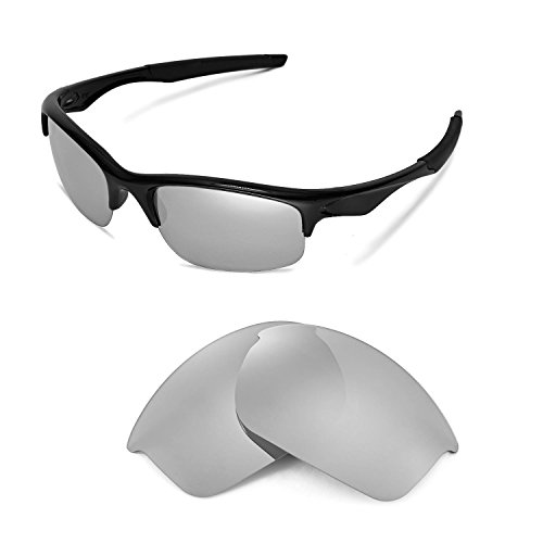 Walleva Replacement Lenses for Oakley Bottle Rocket Sunglasses - Myltiple Options Available(Titanium - - Polorized Lenses