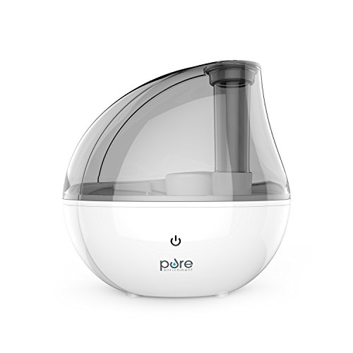 Pure Enrichment MistAire Silver Ultrasonic Cool Mist Humidifier - 1.5-Liter Water Tank, Whisper-Quiet Operation, Auto Safety Shut-Off and Night Light Function - Lasts Up to 25 Hours from Pure Enrichment