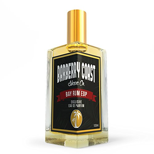 Bay Rum Eau de Parfum EdP Cologne for men by Barberry Coast – Crafted with Authentic Bay Oils from Dominica Republic in the Virgin Islands – Natural and Pure Ingredients